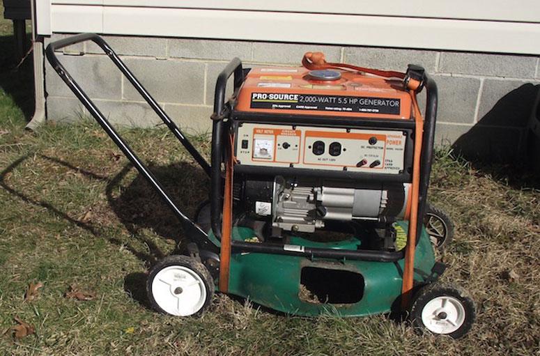 diy portable generator wheel cart