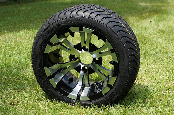 Black Golf Cart Tire 12 Combo