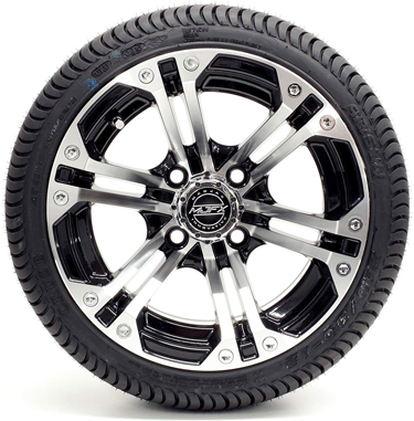 Madjax Nitro Machined Black 12 Wheels